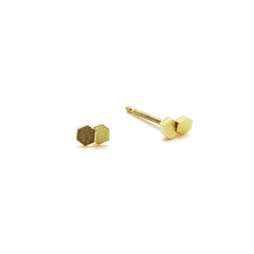 Two chaos Hex Stud earrings