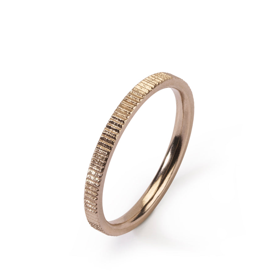2mm Vertical Pattern Contour ring