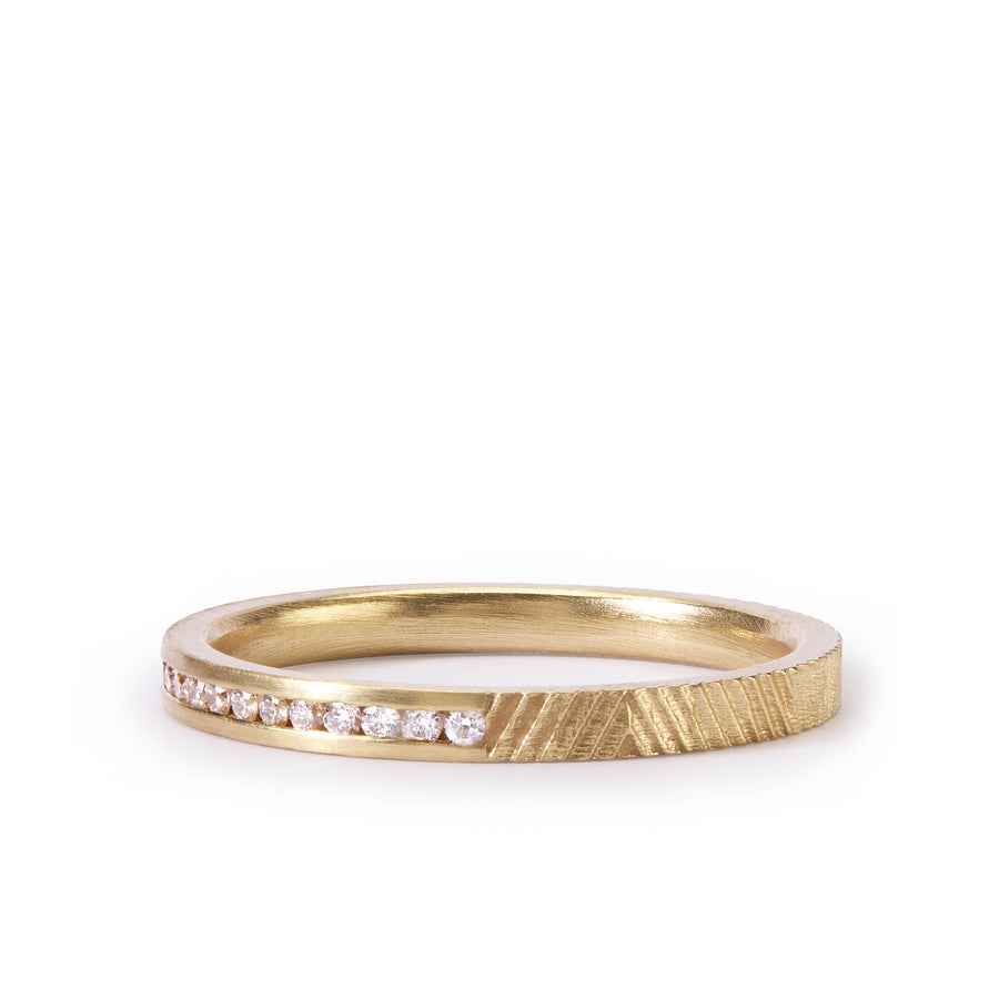 2mm Half Eternity Contour ring