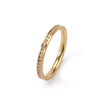 2mm Contour eternity ring