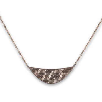 30x10mm Hex Crescent Necklace