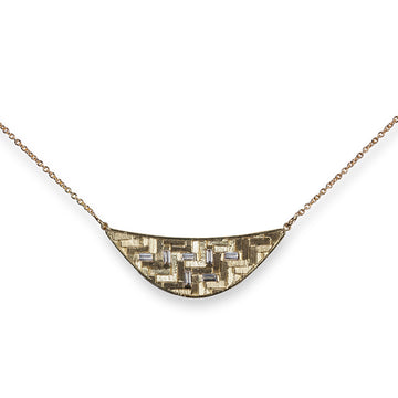 30x10mm Parquet Crescent Necklace
