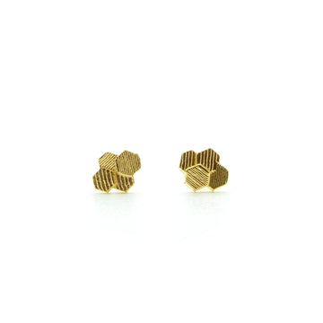 Four chaos Hex Stud earrings