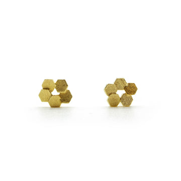 Five chaos Hex Stud earrings
