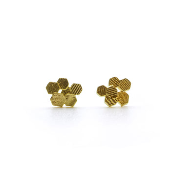 Six chaos Hex Stud earrings