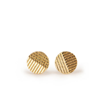 6mm contour disc Stud earrings