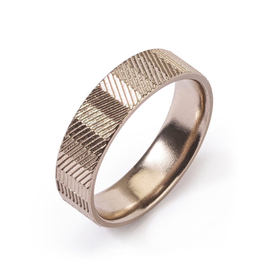 6mm Mixed Pattern Contour Ring