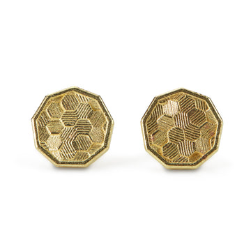 8mm Koin Hex Stud earrings