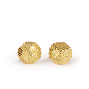 8mm Domed Contour Stud Earrings