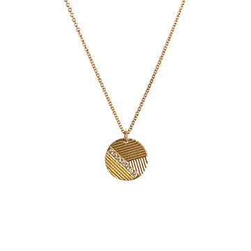Contour Disc Necklace