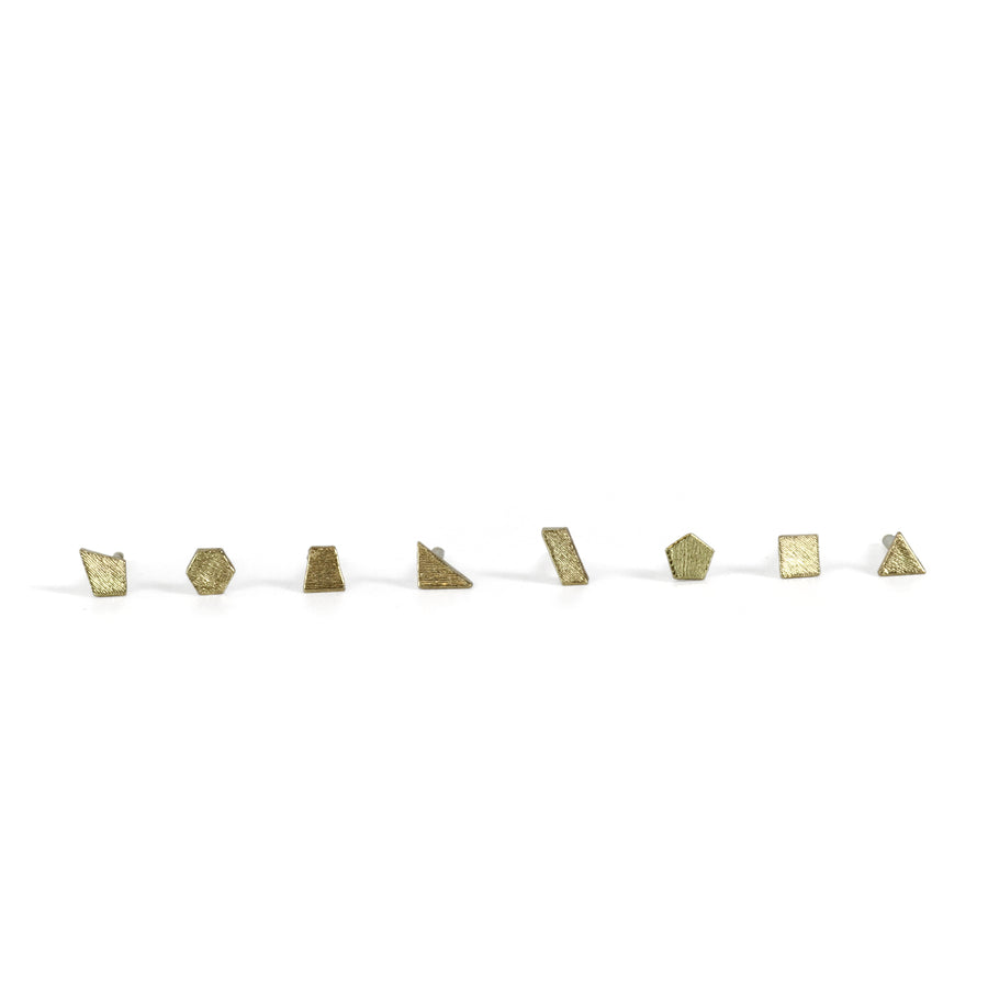 Triangle (equalateral) Glint Stud Earring