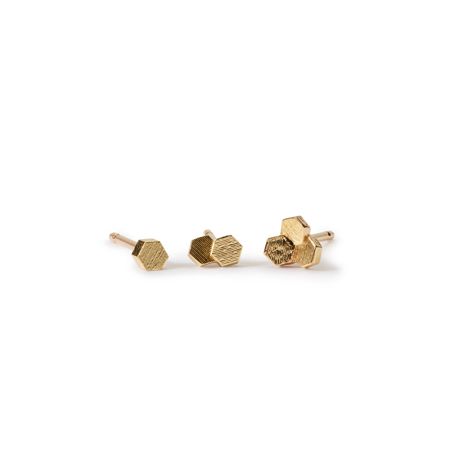 One chaos Hex Stud earrings