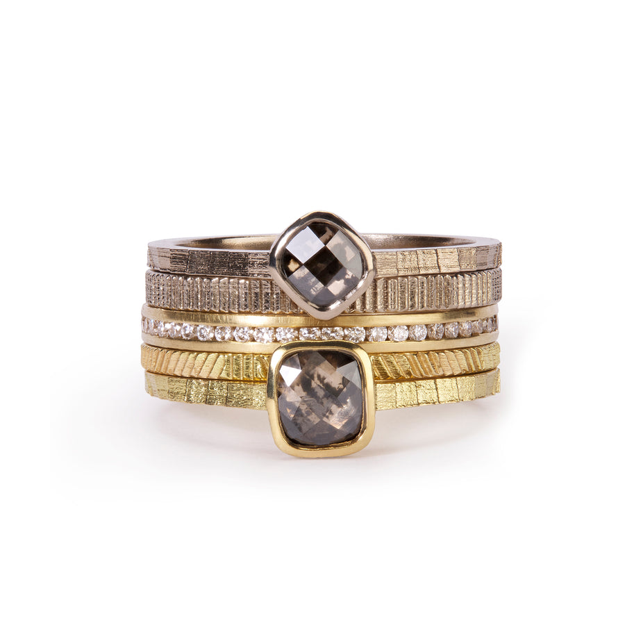 Square and Contour stacking ring set