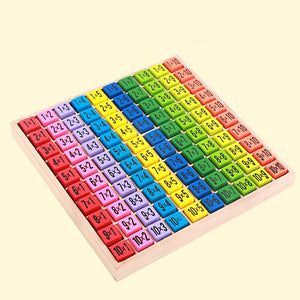 Wooden 99 Multiplication Table