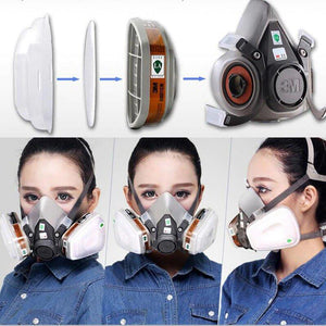 9-in-1 Suit Half Face Gas Mask Respirator