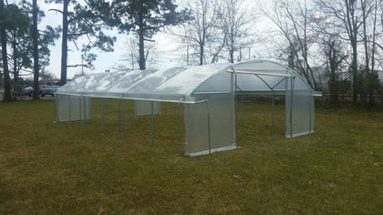Clear greenhouse poly covering