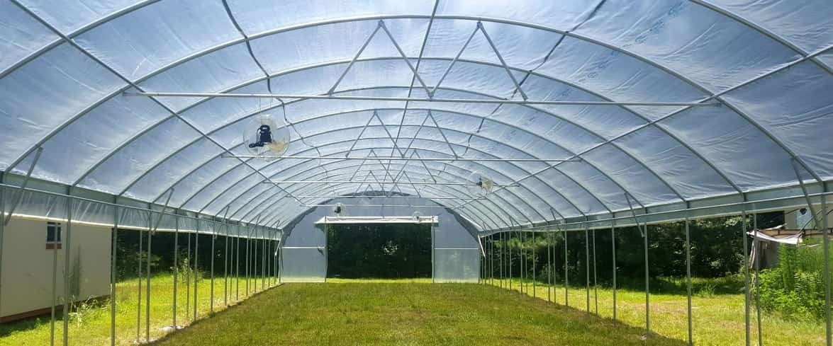free standing greenhouse with polycarbonate cover