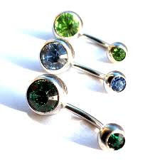 Double Jewelled Belly Button Bar