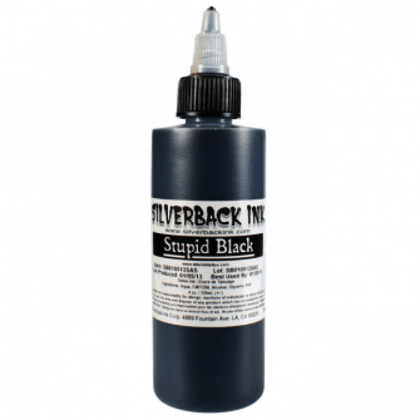Silverback Ink Stupid Black - 120ml- 4oz