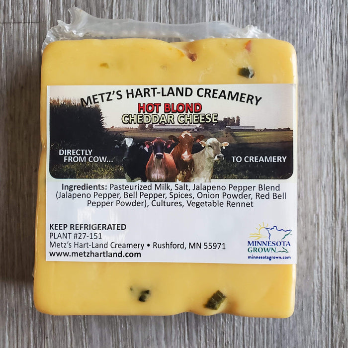 Hot Blond Cheddar, Met's Hart-Land Creamery, 8 oz