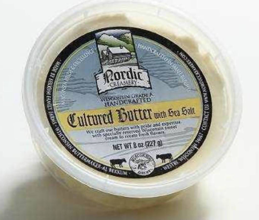 Cultured Butter with Sea Salt (8 Ounces) | Nordic Creamery, Westby, WI
