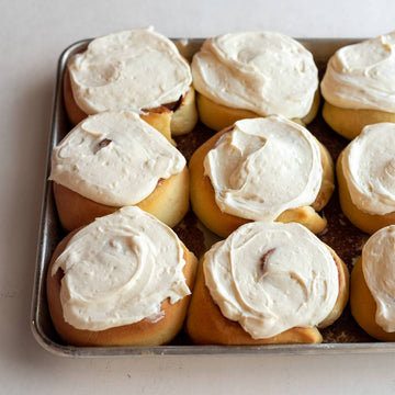 Cinnamon Roll with Cream Cheese Icing (Serves 1)