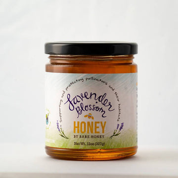 Bare Honey | Lavender Blossom Honey | 12 oz Glass Jar