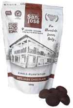 80% Dark Chocolate -Dark Chocolate bite size by Hacienda San Jose: Chocolate disks - bag 250 grams (8.82 oz)