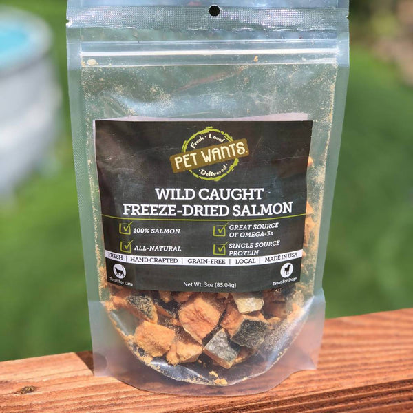 Wild Caught Salmon Treats for Cats & Dogs - Freeze Dried