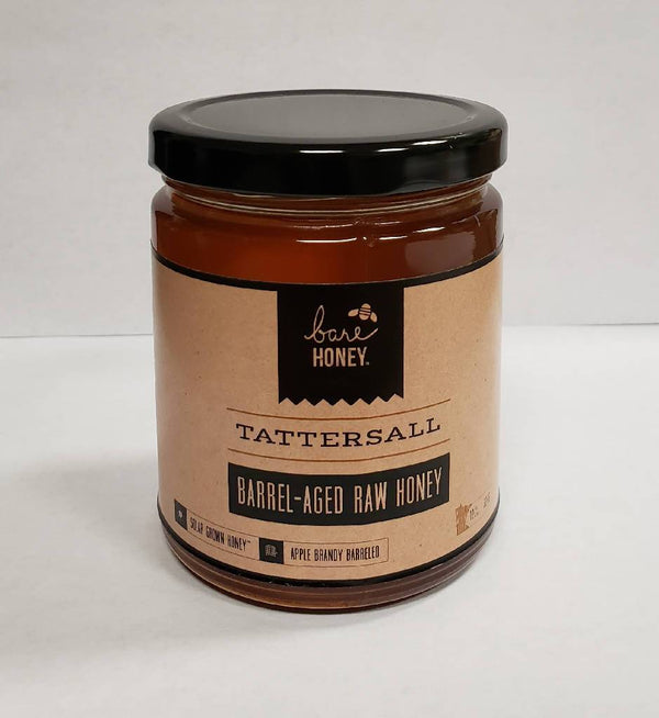 Bare Honey - Tattersall | Barrel Aged Honey | 12 oz Glass Jar
