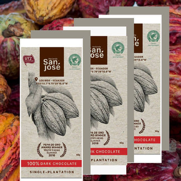 100% Dark Chocolate bar Hacienda San Jose_ 3 pack