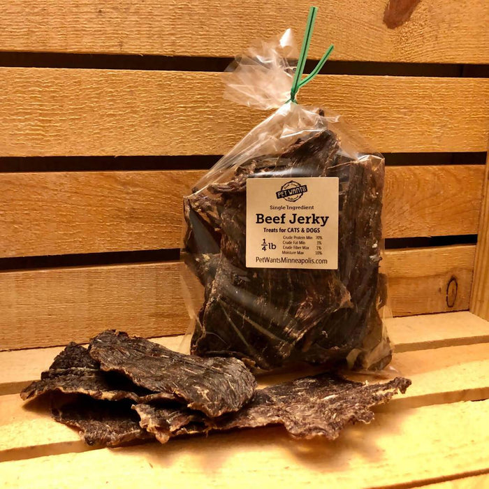 Beef Jerky Treats for Cats & Dogs 1/4 lb.