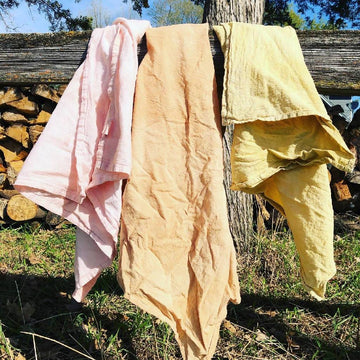 Naturally dyed 100% cotton flour sack towel