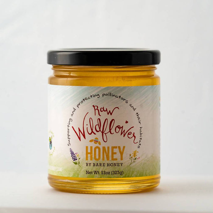 Raw Wildflower Honey | 12 oz Glass Jar