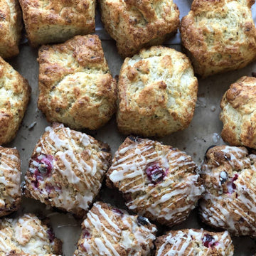 Sweet or Savory Scones (Serves 1) | Vanilla Bean or Roasted Garlic, Goat Cheese & Herb