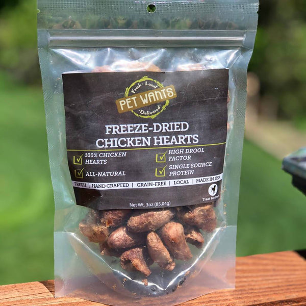 Chicken Hearts Treats for Cats & Dogs - Freeze Dried