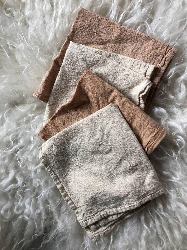 Naturally dyed cotton napkin