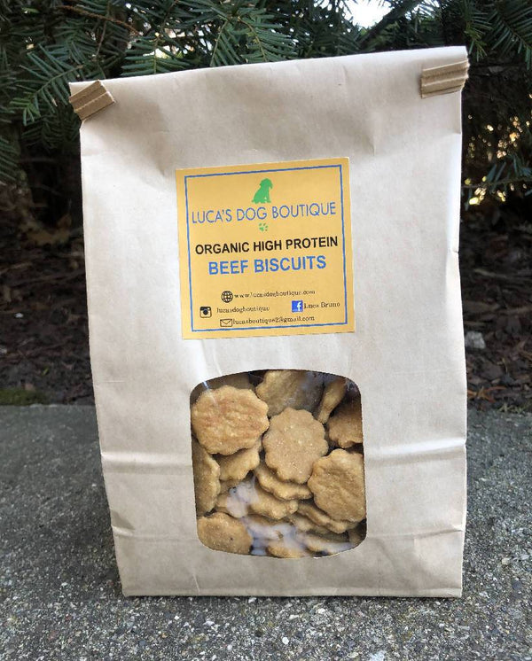 Luca's Organic Beef Dog Treats One Pound - TEEN OWNED & OPERATED!