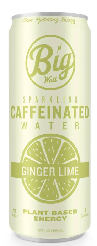Ginger Lime Caffeinated Sparkling Water (12 Pack)
