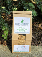 Luca's Organic Peanut Butter Pumpkin Dog Treats 1/2 Pound - TEEN OWNED & OPERATED!
