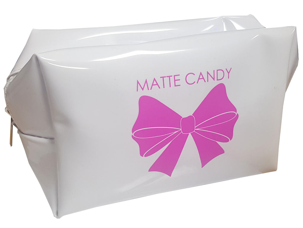 Matte Candy Cosmetic Bag White