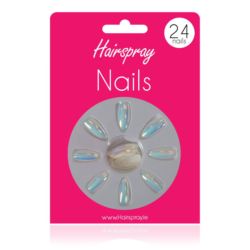 Hairspray 24 Stiletto Nails (No Glue Included)