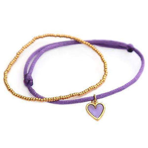 ARMBAND PURPLE HEART SILVER/GOLD