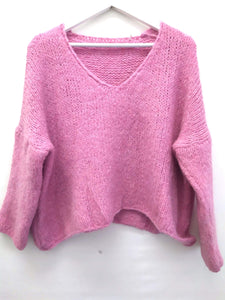 STRICK PULLI PINK ONE SIZE