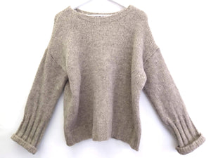 PULLOVER BEIGE OVERSIZE ONE SIZE