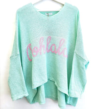 Lade das Bild in den Galerie-Viewer, PULLOVER OOHLALA PASTELL MINT ONE SIZE
