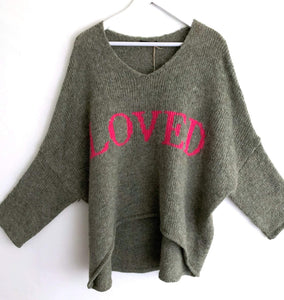 PULLOVER LOVED OLIV ONE SIZE