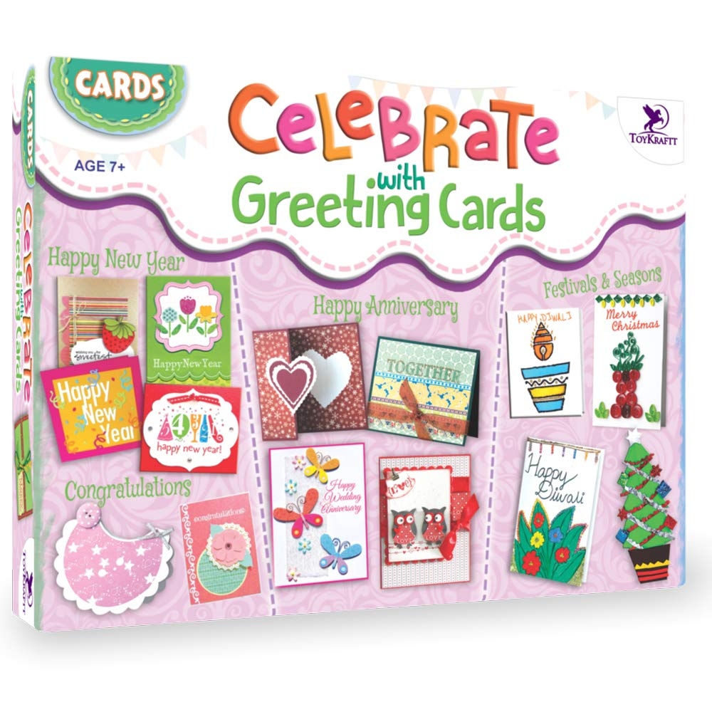 Toykraft Hidden Surprises Do It Yourself Card Making Activity Kit for Kids Aged 7 Years to Adults