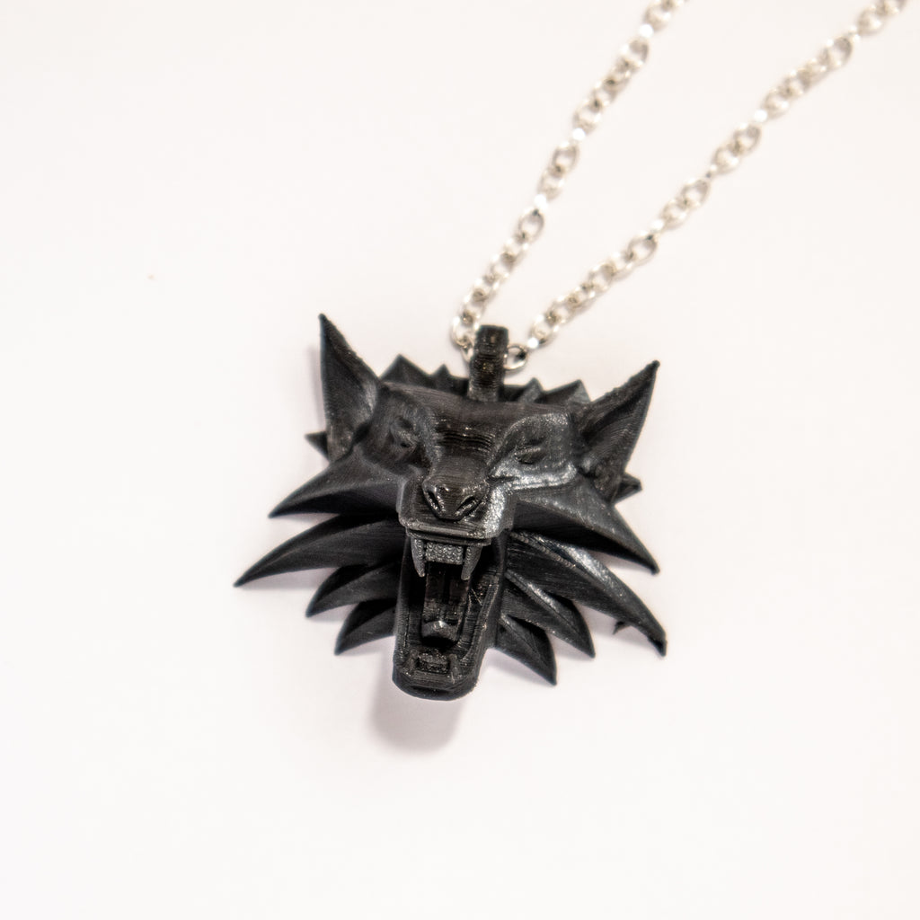 The Witcher Necklace - Wolf Head Talisman
