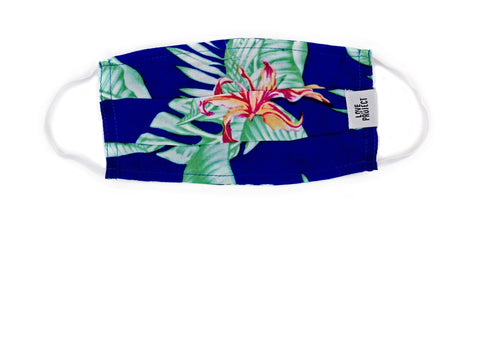 Kids' Aloha Elastic Face Mask:Marine Blue